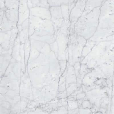 Bianco Gioia 18 in. x 18 in. Marble Floor and Wall Tile (2.25 sq. ft.)