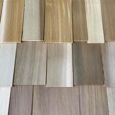 Craftsman 8-1/4 in. x 96 in. Cedar Staggered Butt Shingle Siding Panel (8-Pack)
