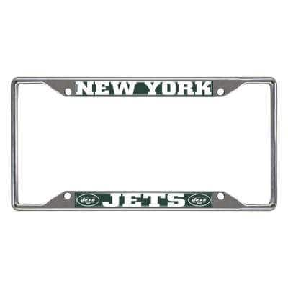 NFL - New York Jets Chromed Stainless Steel License Plate Frame