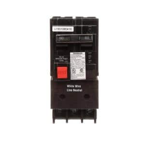 60 Amp Double Pole Type QE Ground Fault Equipment Protection Circuit Breaker