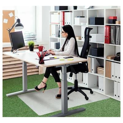 "Ecotex® Polypropylene Rectangular Foldable Chair Mat for Carpets - 35"" x 46"""