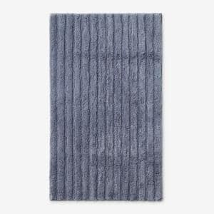 Green Earth Quick Dry Sea 30 in. x 50 in. Solid Cotton Bath Rug