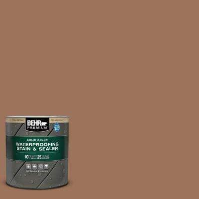 1 qt. #SC-152 Red Cedar Solid Color Waterproofing Exterior Wood Stain and Sealer
