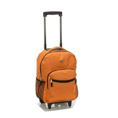 Roadster 17 in. Rolling Backpack, Orange