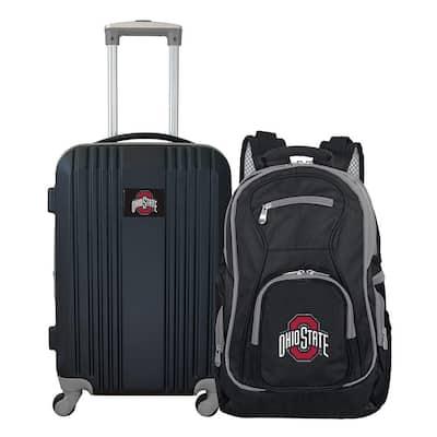 NCAA Ohio State University Buckeyes 2-Piece Set Luggage and Backpack