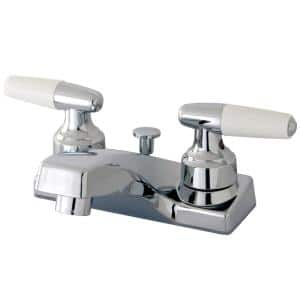 Americana 4 in. Centerset Double Handle Bathroom Faucet in Polished Chrome