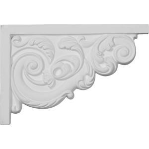 5/8 in. x 11-3/8 in. x 7-5/8 in. Polyurethane Right Large Ashford Stair Bracket Moulding