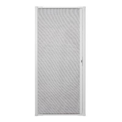 36 in. x 80 in. LuminAire White Retractable Screen Door