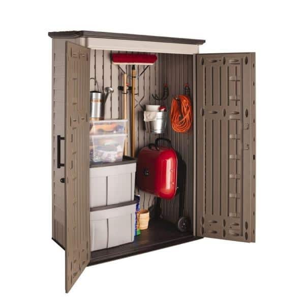 Rubbermaid Big Max 2 Ft 6 In X 4 Ft 3 In Large Vertical Resin Storage Shed 1887156 The Home Depot