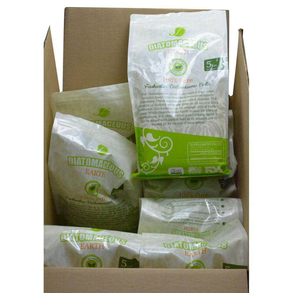 Absorbent Industries 5 Lbs Bag Diatomaceous Earth Food Grade Fresh Water Type Codex De 0 5 8 Pack Ai Hd 10067 S8 The Home Depot