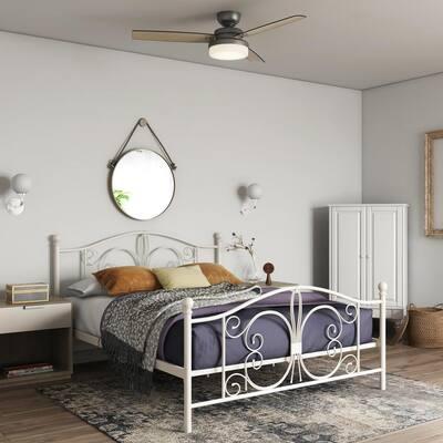 Bombay White Full Bed Frame