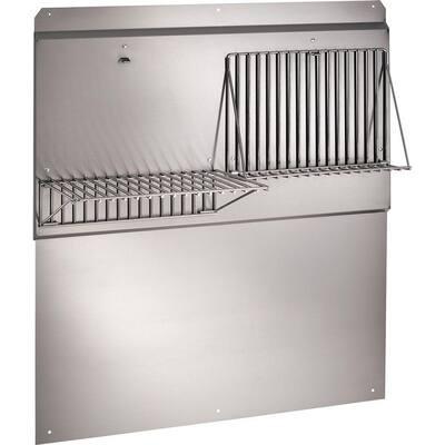 30 in. Backsplash with Shelves in Stainless Steel for Range Hood