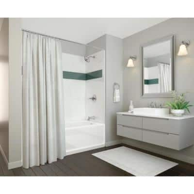UPstile 32 in. x 60 in. x 60 in. Bath and Shower Kit with Classic 400 Right-Hand Drain in White