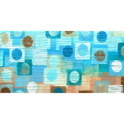 Mod Blues , Canvas Wall Art, 48 in. x 24 in.