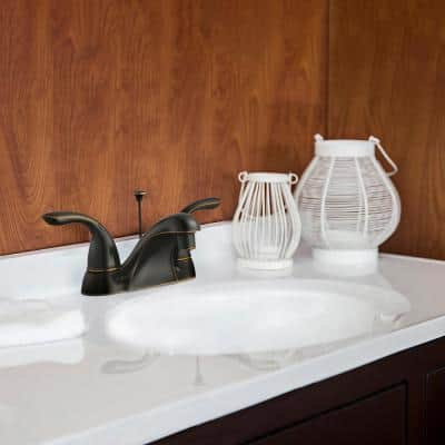 Ashland 4 in. Centerset 2-Handle Bathroom Faucet in Oil Rubbed Bronze