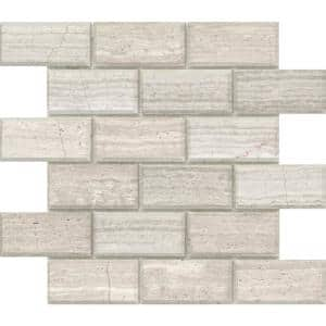 Marble Cream 12.01 in. x 12.01 in. Geometric Honed Limestone Mosaic Tile (0.985 sq. ft./Each)