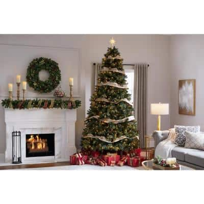 9 ft Westwood Fir LED Pre-Lit Artificial Christmas Tree with 800 Warm White Micro Fairy Lights