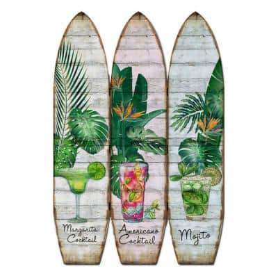 Mariana 71 in Local Multicolor Wood Surfboard Screen Panels