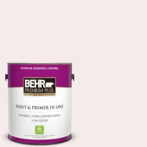 Behr Premium Plus 1 Gal Rd W08 Pink Mirage Eggshell Enamel Low Odor Interior Paint And Primer In One 205001 The Home Depot