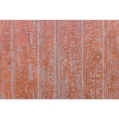 10.67 sq. ft. 1/4 in. x 48 in. x 32 in. Red Barn Hand Hewn Wainscot Hardboard Panel