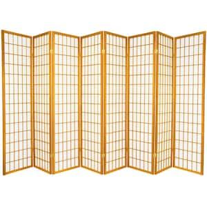 6 ft. Honey 8-Panel Room Divider