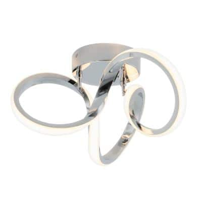 Swirl 13 in. Chrome LED Flush Mount