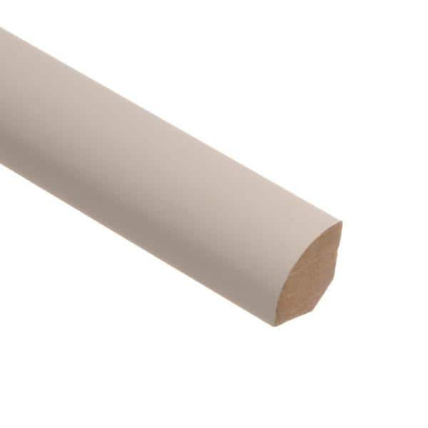 Zamma Recoatable White 5 8 In Thick X 3 4 In Wide X 94 In Length Laminate Quarter Round Molding 013140324 The Home Depot