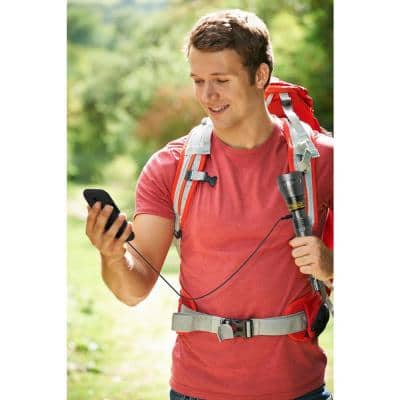 1000 Lumens High Power Rechargeable LED Hand-Held Flashlight with Portable USB Power