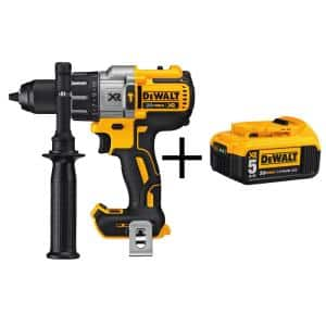 20-Volt MAX XR Cordless Brushless 3-Speed 1/2 in. Hammer Drill with (1) 20-Volt 5.0Ah Battery