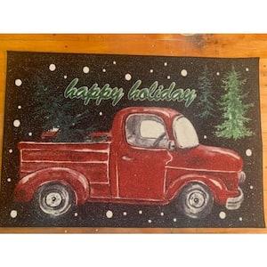 Truck Black 31 in. x 49 in. Holiday Door Mat