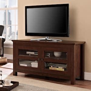 Coronado 44 in. Brown Wood TV Stand 48 in. with Doors
