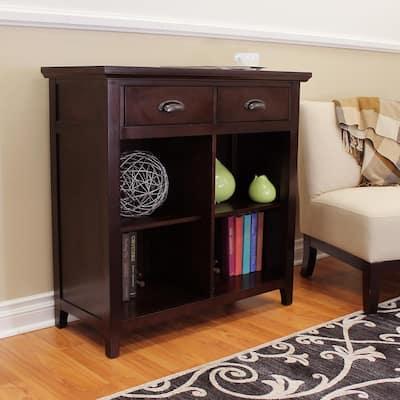 Lindendale 2-Drawers, 4-Shelf Espresso Bookcase
