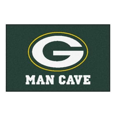 NFL Green Bay Packers Green Man Cave 2 ft. x 3 ft. Area Rug