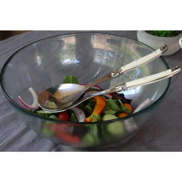 Laguiole 2 Piece Faux Ivory Salad Servers Lg038 The Home Depot