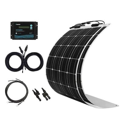 200-Watt Flexible Monocrystalline Solar Panel Kit with 20 Amp Waterproof PWM Charge Controller