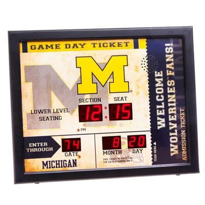 University of Michigan NCAA Bluetooth Ticket Stub Wall Clock