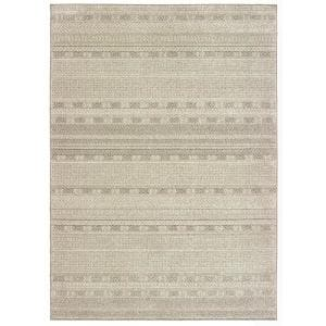 Rydal Ivory/Brown 4 ft. x 6 ft. Striped Area Rug