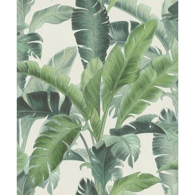 Orissa Green Palm Frond Wallpaper Sample