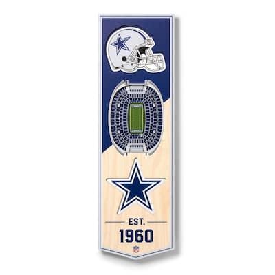 NFL Dallas Cowboys 6 in. x 19 in. 3D Stadium Banner-ATandT Stadium