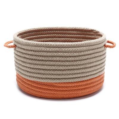 Harbor Orange Round Polypropylene Basket
