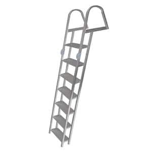 Tommy Docks 5 Step Angled Aluminum Ladder With Mounting Hardware Td 60265 The Home Depot