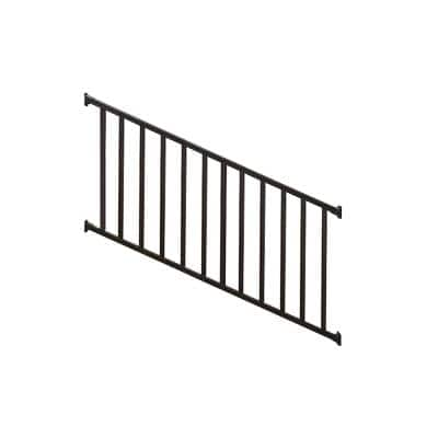 Stanford 36 in. H x 72 in. W Textured Black Aluminum Stair Railing Kit