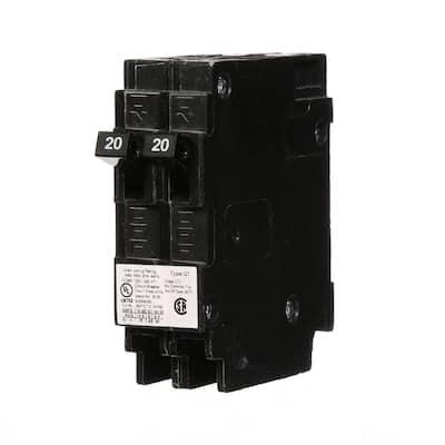 20 Amp Tandem Single Pole Type QT Circuit Breaker