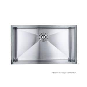 Handmade Undermount Stainless Steel 30 in. Single Bowl Kitchen Sink 18 Gauge