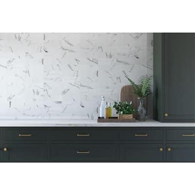 Belmar White 4 in. x 12 in. Ceramic Wall Tile (10.98 sq. ft. / case)