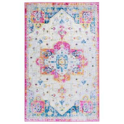 Elite Lilac 8 ft. x 10 ft. Bohemian Distressed Area Rug