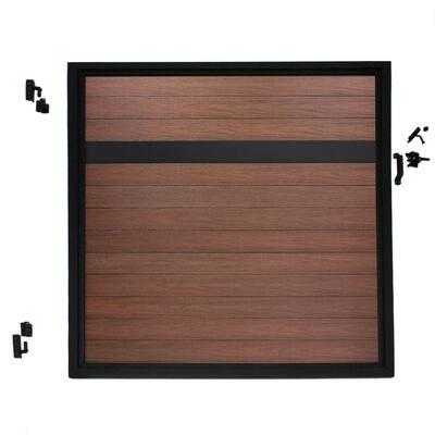 Euro Style 4 ft. W x 4 ft. H Black Top Black Rose Aluminum/Composite Adjustable Fence Gate