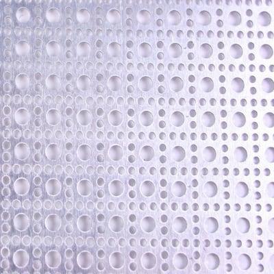 36 in. x 36 in. Lincane Aluminum Sheet in Silver