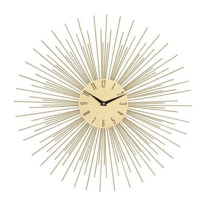 Gold Metal Contemporary Wall Clock