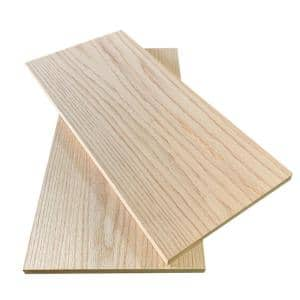 1 in. x 12 in. x 8 ft. Red Oak S4S Board (2-Pack)